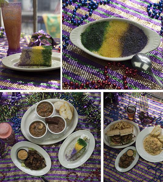 Mardi Gras food served at Oceana Grill